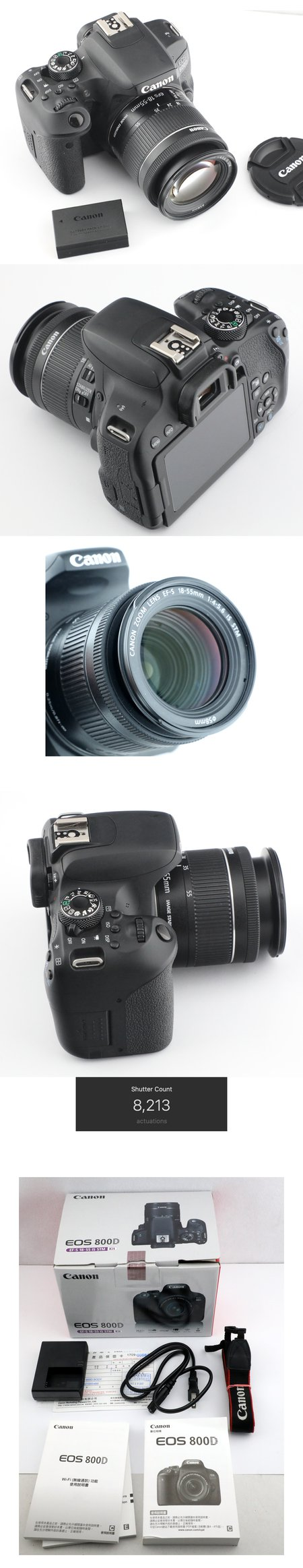 Canon 800D + 18-55mm  IS STM  公司貨